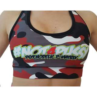 BPS-Pharma - Bra/Top mit Pad Camo Red