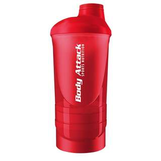 Body Attack Shaker ShakeOne 600ml Rot