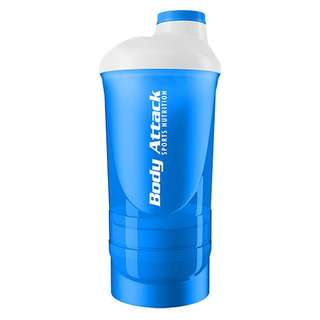 Body Attack Shaker ShakeOne 600ml Blau